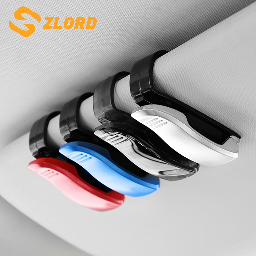 2019 Hot Sale Auto Fastener Cip Auto Accessories ABS Car Vehicle Sun Visor Sunglasses Eyeglasses Glasses Holder Ticket Clip(China)