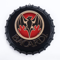 Tin Sign BACARDI Vintage Metal Painting Beer lid Bar pub Hanging Ornaments Wallpaper Decor Retro Mural Poster Craft