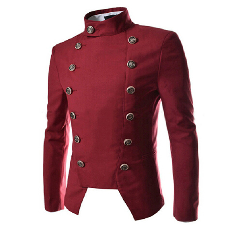 2018 are British palace style double breasted muscle metrosexual man night DJ Slim small suit jacket host fashion singers suit