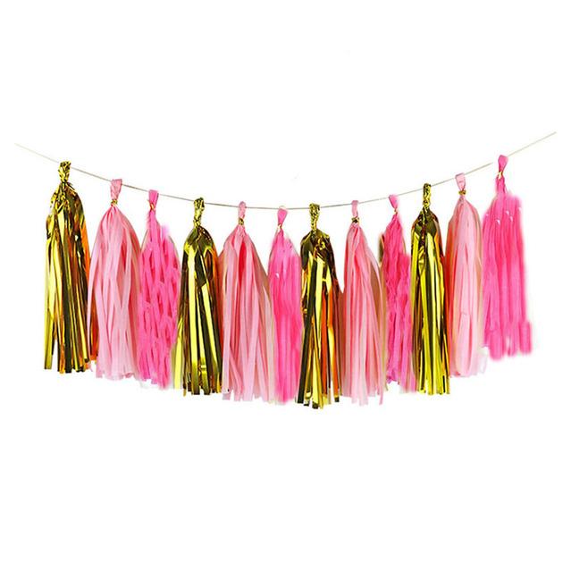 3Packs(15Pcs) Colorful Tissue Paper Tassels Baby Shower DIY Craft Birthday Decoration
