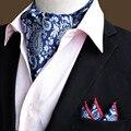 Jacquard Lenço Quadrado Bolso Gravata Gravata Jacquard Bufanda Ties Woven Festa Floral Paisley Ascot Lenço Conjunto