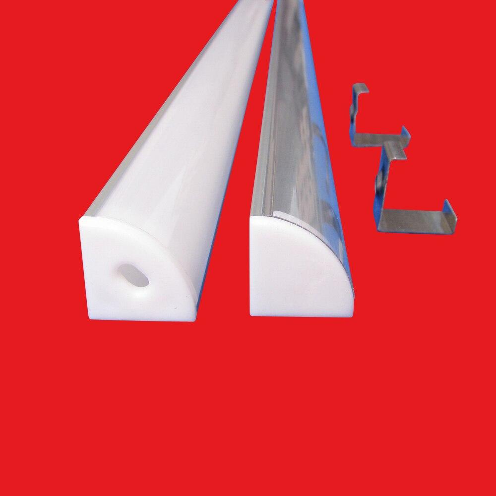 10pcs/20pcs X 2m Semi Clear Cover led aluminum channel,V Led aluminum profile ,Led channel for 10mm PCB strip housing AP1616A-in LED Bar Lights from Lights & Lighting    1