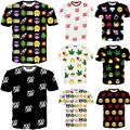 Raisevern new Emoji print men woman unisex t shirt cute cartoon tshirt casual top tees 100 hemp hip hop emojis T-shirt