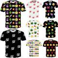Raisevern nueva Emoji imprimir hombres mujer unisex camiseta linda de dibujos animados camiseta casual top tees 100 cáñamo hip hop emojis camiseta