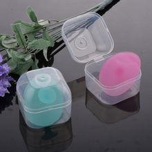 Волшебная Силиконовая Овальная щетка для удаления черных точек для лица, для мытья головы ребенка, уход за кожей, красота с коробкой, очищающая подушечка