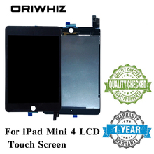 New Arrival Assembly Replacement For iPad Mini 4 LCD Touch Screen Display Digitizer Glass without Homebutton and Glue