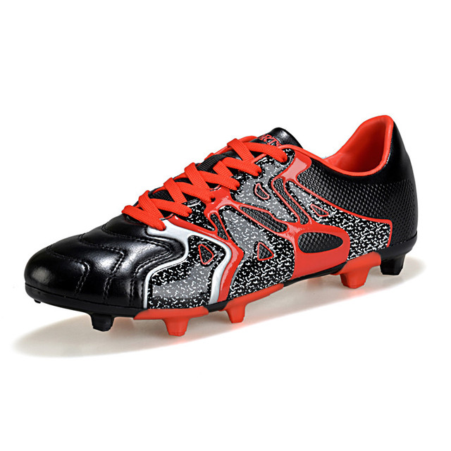 Colorful Brand Men And Women Soccer Shoes Outdoor Long Spikes Soccer Cleats  Boots Leather Sport Football Shoes Trainer Sneaker 2c66f3a1ce