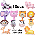 foil balloons mini size animal balloons pet cow tiger monkey pig horse deer dinosaur birthday balloons helium balloon