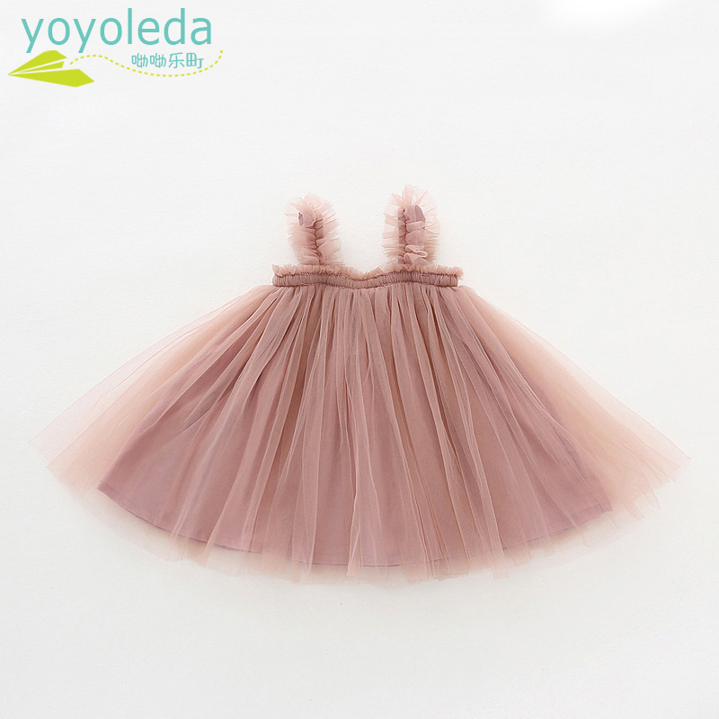 Kids Dresses Ball-Gown Children's Clothing Tutu Princess-Dress Baby Cotton Summer Sleeveless