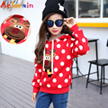 Children Cartoon Hooded Sweater Christmas Deer Boys and Girls Sweater Hoodies & Sweatshirts Cute Autumn Children 's Clothing