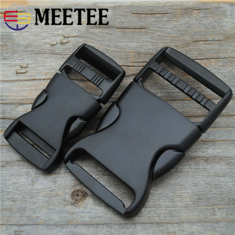 Meetee 25/38MM Thick Metal Release Buckle Backpack Shoulder Bag Adjustment Button Luggage Bag Accessories Sewing Buckle AP486