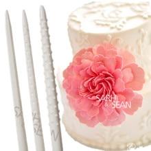 Для цветов из мастики палочка для моделирования моделирование сложить в виде цветочных лепестков палка линии с антипригарным покрытием Универсальный стержень инструменты для украшения торта, 3 шт./компл
