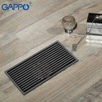 GAPPO Drains Anti odor bathroom floor drain strainer shower floor drains recgangle black bathroom drainers water stoppers