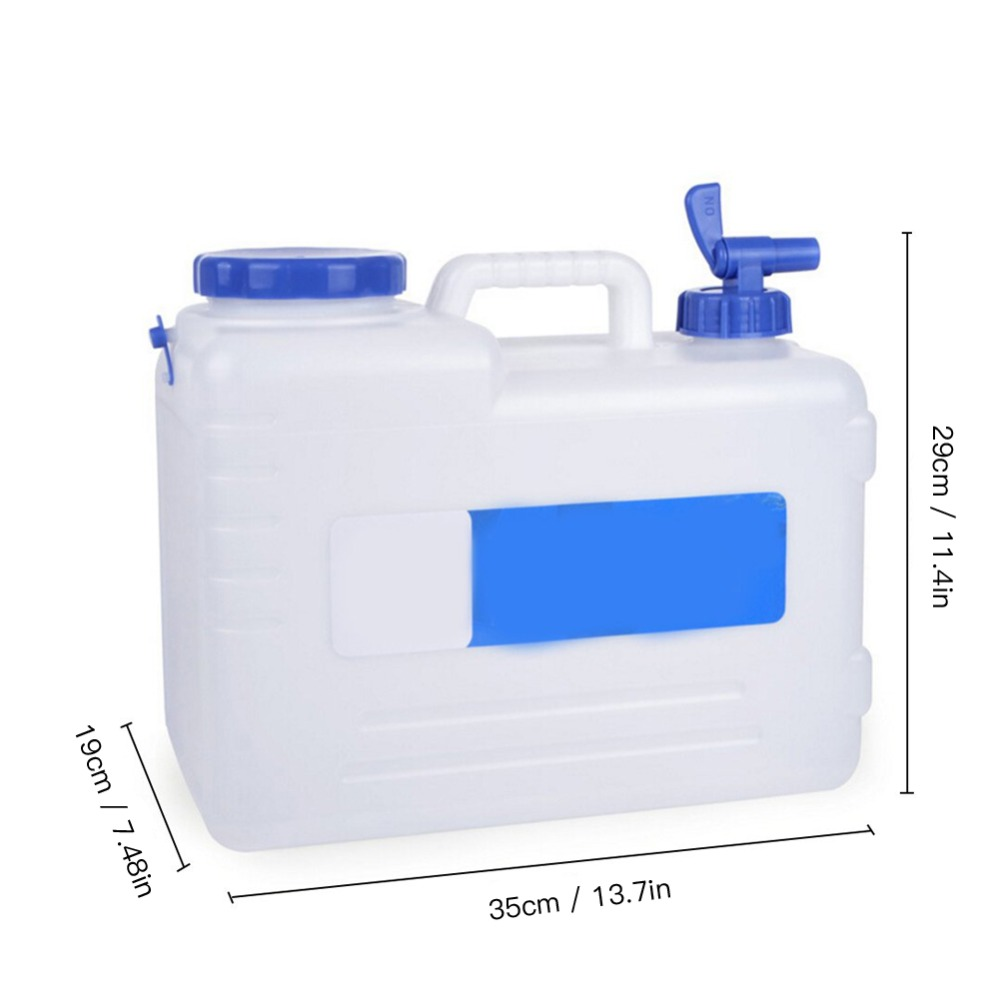 Kamenda Camping al aire libre coche Cubo de agua transportador de agua bid/ón con grifo de agua y tapa estanca 15 L