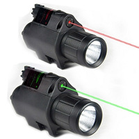Hot Tactical Outdoor Hunting Lights green red laser sight Flashlight With Rat tail switch for sale