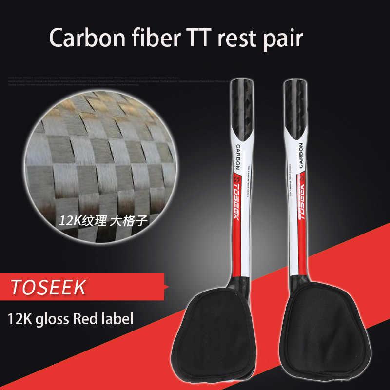12K brillante y mate tt bar extremos fibra de carbono bicicleta de montaña TT manillar asistente para dividir la barra TT de rotura larga 340CM