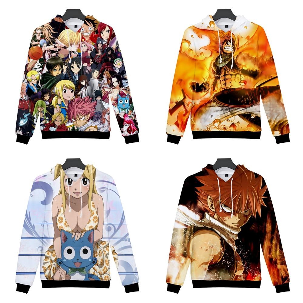 FAIRY TAIL Costumes Lucy Heartfilia Cosplay 3D Printed Sweatshirt Cardigan Sweater Cosplay Anime Cartoon hooded sweater Jackets