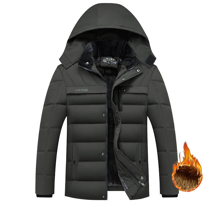 drop shipping men winter jackets and coats fleece parkas outwear overcoat LBZ17