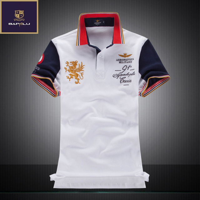 summer new  polo shirt men's boutique embroidery breathable 100% cotton Stitching polo shirt  Men's  fashion  Leisure polo shirt