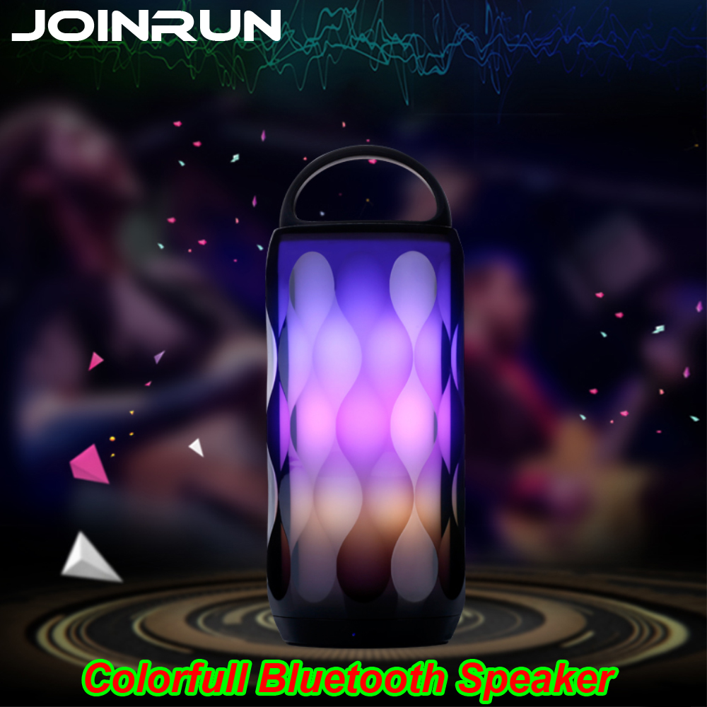 Joinrun Wireless Bluetooth Speaker with colorfull Portable Handsfree TF Card Stereo Sound Double Speaker Subwoofer Player wooden bluetooth speaker wireless outdoor handsfree stereo subwoofer portable speakers 3600mah big power 10w 2 speaker