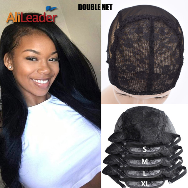 Alileader Adjustable Wig Caps Small/Large/Extra Large Base Cap Black Weaving Wig Tools Lace Wig Caps Weave Cap For Making a Wig