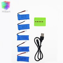 Lipo 3.7V 500mAh  Battery 5pcs with X5 green High-quality charger For Hubsan H107 h107c JXD385 YD928 U816 Walkera rc Quadcopter
