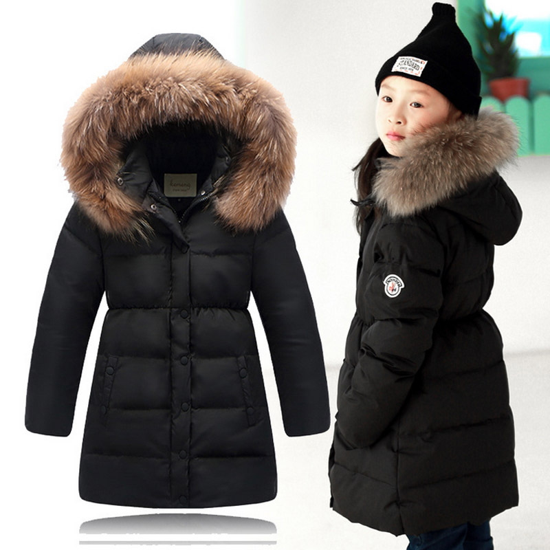 2015 New Big Teenage Girls Autumn Winter Warm White Duck Down Long