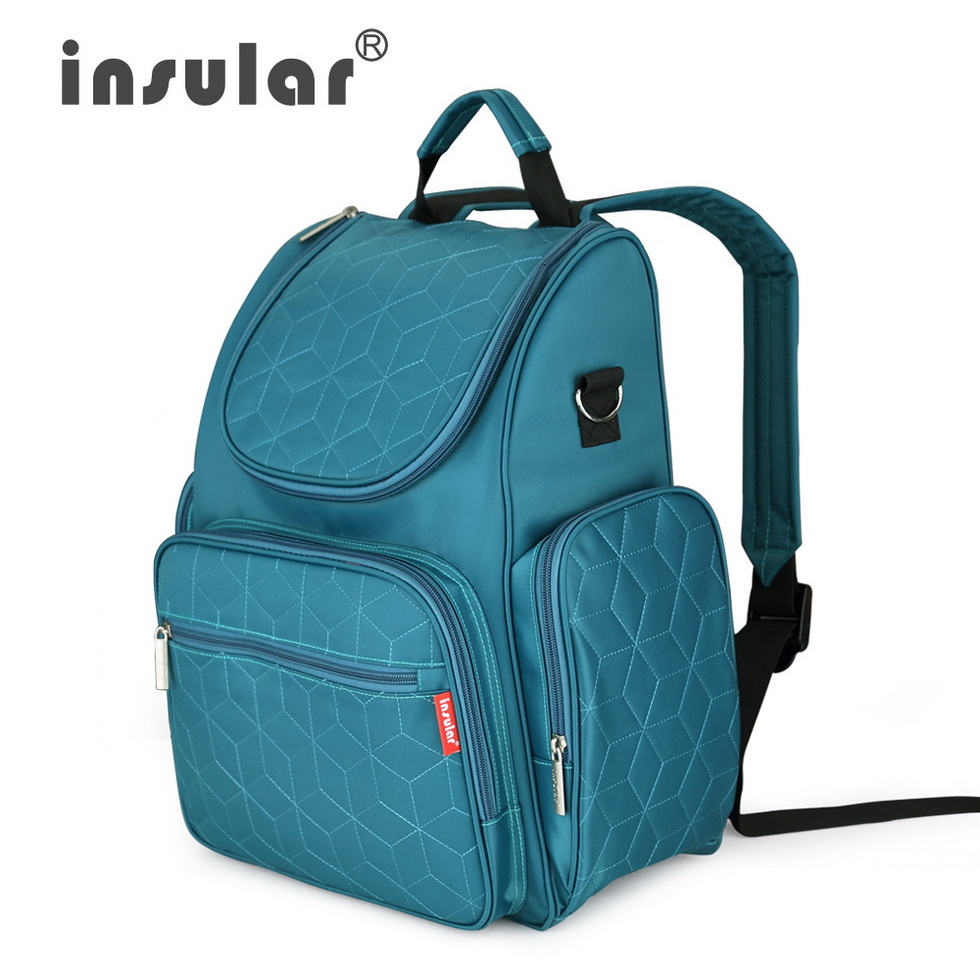 4cf2f720f33 US $25.4 28% OFF|insular Brand mother nappy bags Stylish mummy travel  backpack diaper bag Large capacity Lattice style baby stroller bag-in  Diaper ...