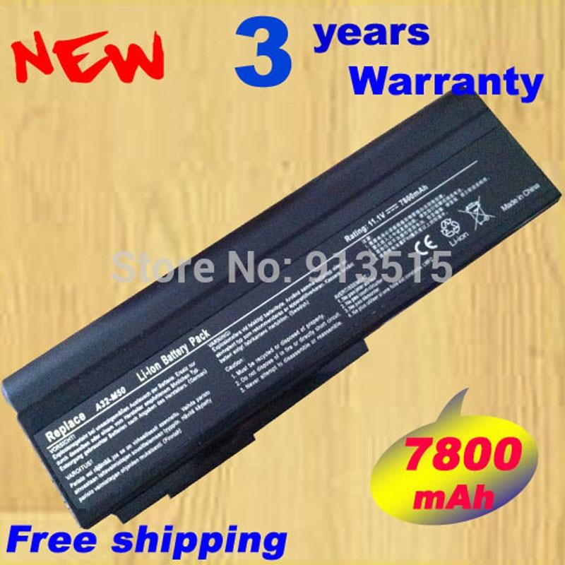 Remplacer la batterie d'ordinateur portable pour asus n53s n53sv a32-m50 a32-n61 a32-x64 n53 a32 m50 m50s a33-m50 7800 mah