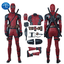 MANLUYUNXIAO Deadpool Cosplay Halloween Costume Men Marvel Movie Once Upon A Superhero Masquerade Outfit Custom Made