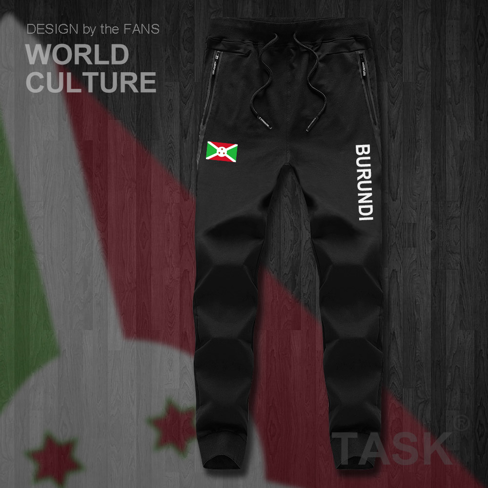 Burundi Burundian East Africa BDI BI Mens Pants Joggers Jumpsuit Sweatpants Track Sweat Fitness Fleece Tactical Casual Nation