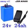 24V batterie de vélo électrique 24V 25AH batterie au lithium 24V 20AH 21AH 24AH 27AH 30AH e-bike Scooter batterie utiliser samsung cell