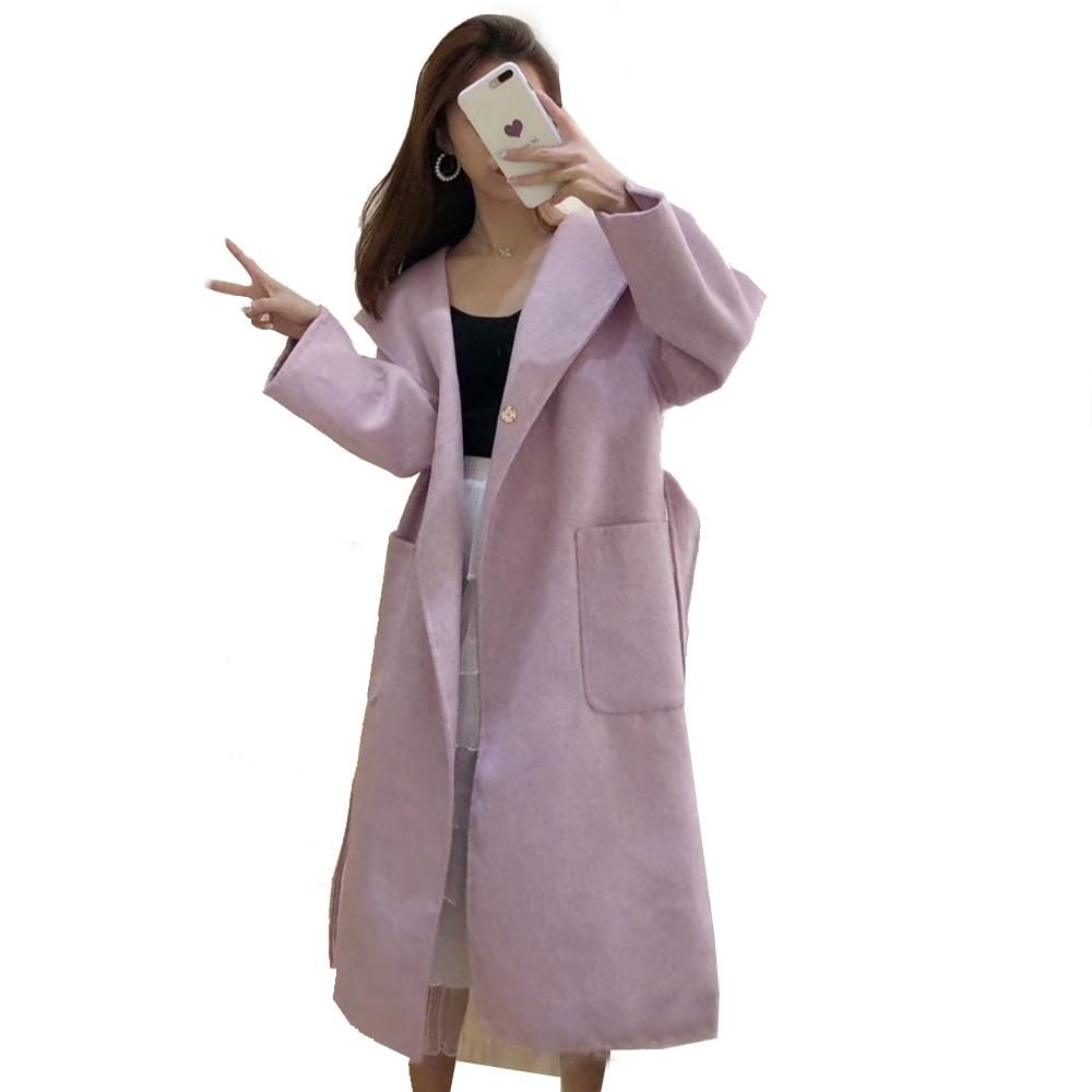 Tranchée Fashion Cachemire Automne Qualité Nouvelle Extra Dame Outwear  Manteau À Lady Long Occasionnel Véritable 2018 ... 1c2676e6c64