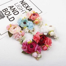 AHB Fashion Hair Bows Floral Nylon Headband for Baby Girls Photography Props Newborn Soft Elastic Headwraps Band Kids Headwear adorable baby girl linen bow headband newborn elastic nylon headwraps pink girls hair accessories bebes bandeau photography pros