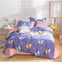 BEST.WENSD Funny fox Bedding Set Bed Linen Ultra Soft Bedding Bag 3/4pcs Duvet Cover Sets Quilt Cover Bed Flat Sheet Pillowcase