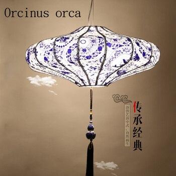 Китайская люстра Zen of blue and white, люстра для ресторана, гостиной, Юго-Восточной Азии