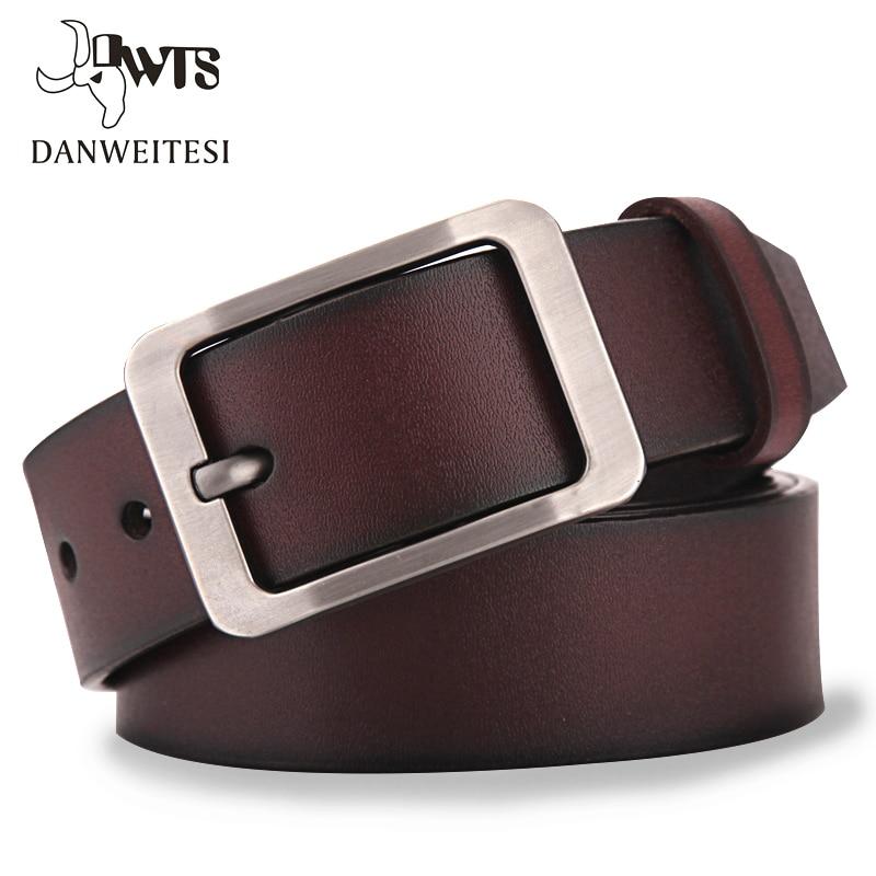 [DWTS]Men's belt leather belt men male genuine leather strap luxury pin buckle casual men's belt Cummerbunds ceinture homme(China)