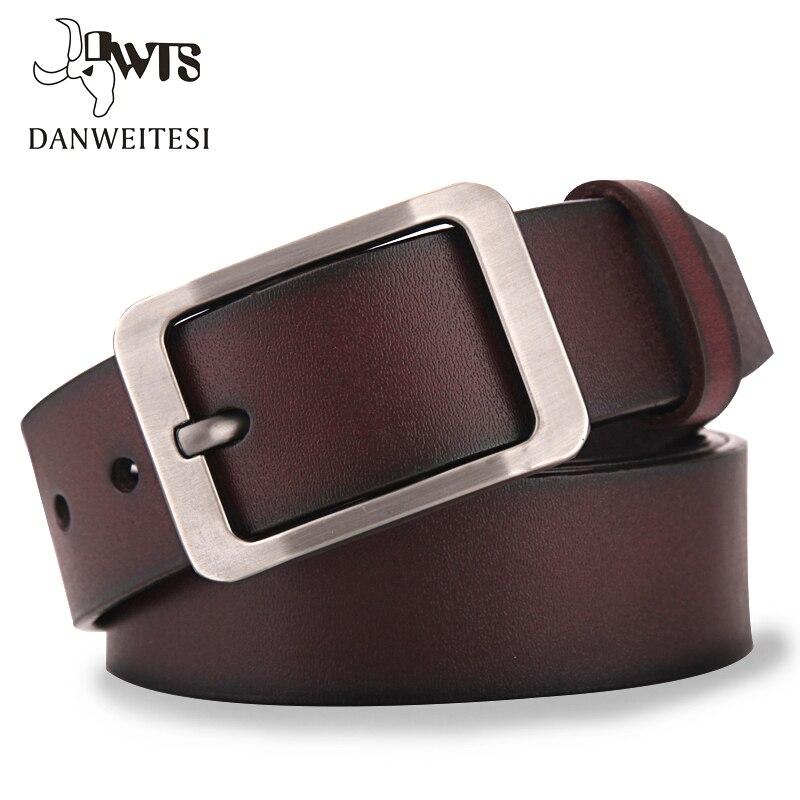 [DWTS] Degli Uomini della cinghia di cuoio degli uomini della cinghia maschio cinturino in vera pelle di lusso pin fibbia della cinghia degli uomini casuali cummerbunds ceinture homme