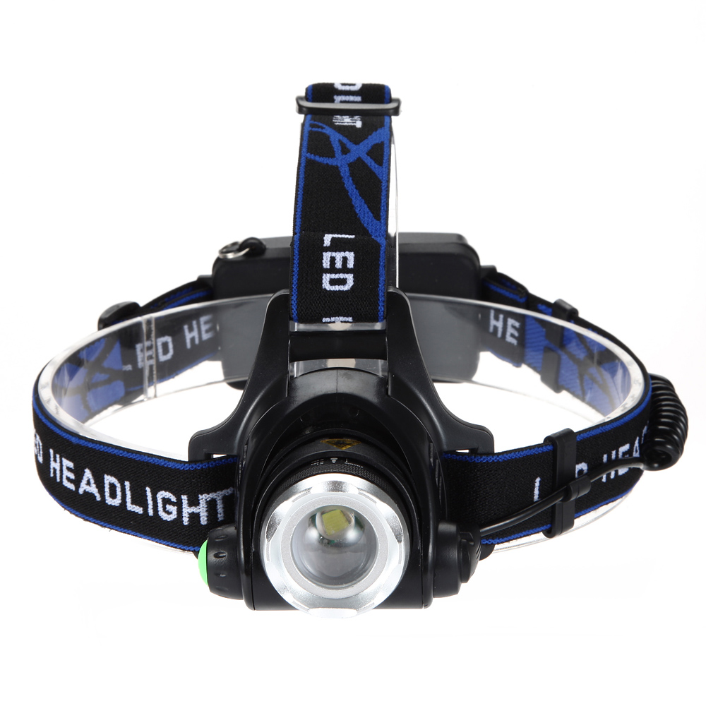 5000LM Led Headlamp XML T6 Zoomable Headlight Head Torch flashlight Head lamp for Fishing 2 battery Car charger charger in Headlamps from Lights Lighting