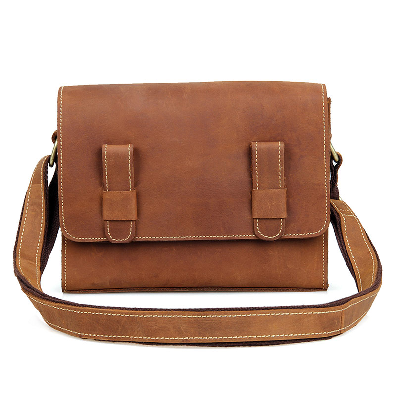 J.M.D Crazy Horse Leather Messenger Bag Vintage Flap Bag For Girls Classic Shoulder Bag C005B chanel boy flap bag