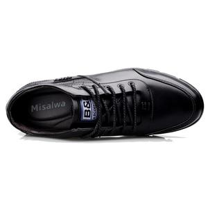 Image 3 - Кроссовки Misalwa мужские увеличивающие рост, на шнуровке, Кожаные сникерсы, зимняя плюшевая повседневная обувь, на осень