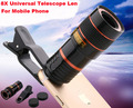 Universal Clip 8X Telescope Lens Mobile Phone Zoom Lens Adjustable For Asus Zenfone 3 Max ZC520TL,Asus Zenfone 3 Laser ZC551KL