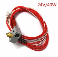 Creality Assembled Extruder Hot End For RepRap 3D Printer 1 75mm Filament 0 4mm Nozzle 24V