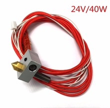 Creality Assembled Extruder Hot End for RepRap 3D Printer 1.75mm Filament, 0.4mm Nozzle, 24V 40W Heater, NTC Thermistor Hotend