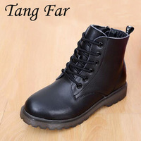 2017 Winter Autumn Children Genuine Leather Boots Brand Boys Fashion Shoes Ankle Boots For Kids Baby