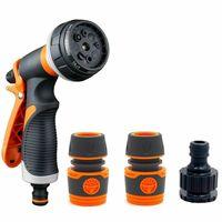 4 teile/satz 8 Funktion Sprayer Düse Haus Garten Wasser Pistole Kit mit 3 Stecker-in Steckverbinder aus Licht & Beleuchtung bei