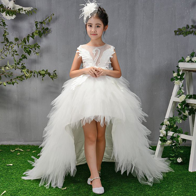 Children Gowns For Wedding: 2019 Children Girls Long Trailing Flower Ball Gowns