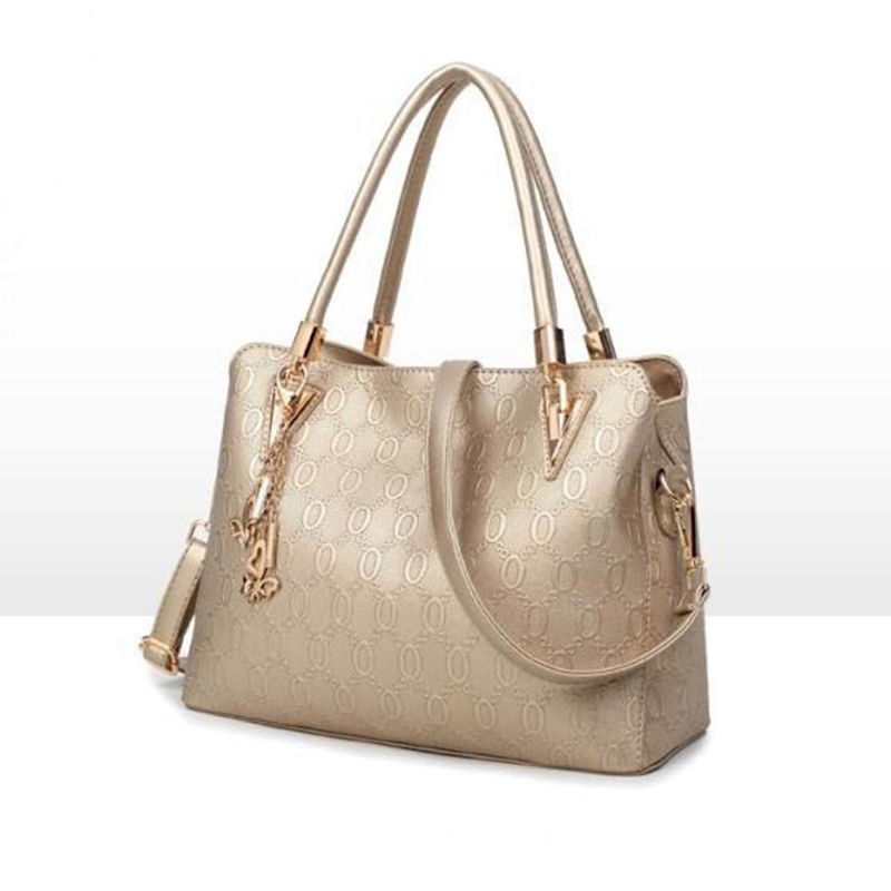 LUYO Brand Fashion Embossing Leather Handbag Gold Luxury Handbags Women Bags  Designer Pochette Crossbody Top handle Bag Day -in Shoulder Bags from  Luggage ... bfa76ebcb48b2