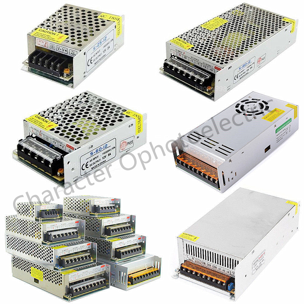 AC 110V-220V TO DC 5V 12V 24V 1A 2A 3A 5A 10A 15A 20A 30A 50A Switch Power Supply Driver Adapter LED Strip Light