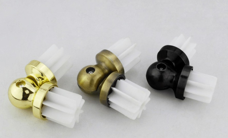 High Quatily Curtain Rod Connector For Corner Window 10 PCS 28mm Many  Colors Curtains Poles Joiner